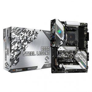 ASROCK B550 STEEL LEGEND Socket AM4/ AMD B550/ DDR4/ Quad CrossFireX/ SATA3&USB3.2/ M.2/ ATX Motherboard