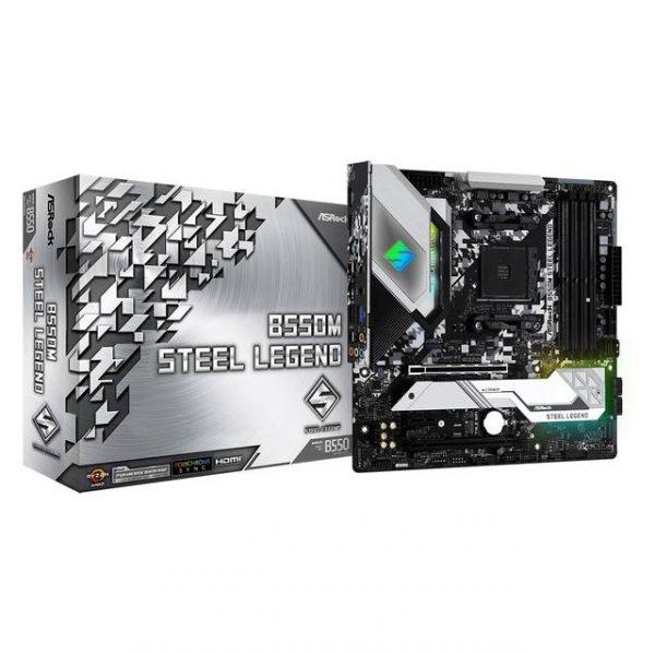 ASROCK B550M STEEL LEGEND Socket AM4/ AMD B550/ DDR4/ Quad CrossFireX/ SATA3&USB3.2/ M.2/ Micro ATX Motherboard