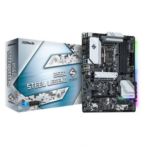 ASROCK B560 STEEL LEGEND Socket LGA1200/ Intel B560/ DDR4/ SATA3&USB3.2/ M.2/ ATX Motherboard