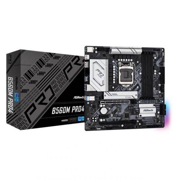 ASROCK B560M PRO4 Socket LGA1200/ Intel B560/ DDR4/ SATA3&USB3.2/ M.2/ Micro ATX Motherboard
