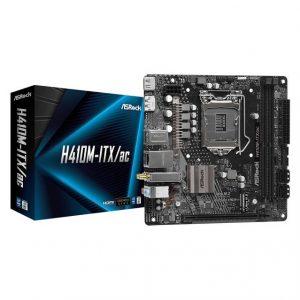 ASROCK H410M-ITX/AC LGA1200/ Intel H410/ DDR4/ SATA3&USB3.2/ M.2/ WiFi&Bluetooth/ Mini-ITX Motherboard
