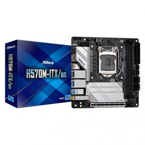ASROCK H570M-ITX/AC LGA1200/ Intel H570/ DDR4/ SATA3&USB3.2/ M.2/ WiFi&Bluetooth/ Mini-ITX Motherboard