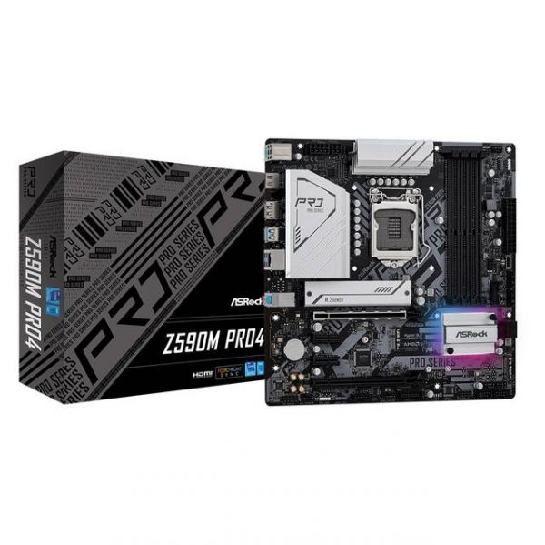 ASROCK Z590M PRO4 LGA1200/ Intel Z590/ DDR4/ SATA3&USB3.2/ M.2/ Micro ATX Motherboard