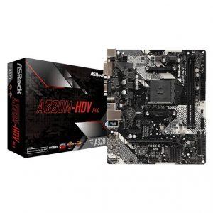 ASRock A320M-HDV R4.0 Socket AM4/ AMD Promontory A320/ DDR4/ SATA3&USB3.1/ M.2/ A&GbE/ MicroATX Motherboard