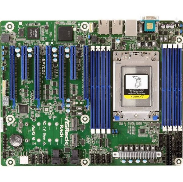 ASRock Rack EPYCD8 Single Socket SP3/ DDR4/ SATA3&USB3.1/ V&2GbE/ ATX Motherboard