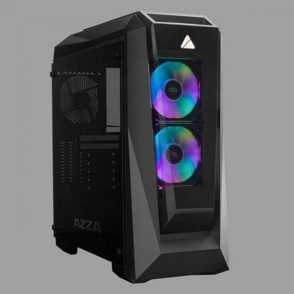 AZZA Chroma 410B CSAZ-410B Black Steel / Tempered Glass ATX Mid Tower Computer Case