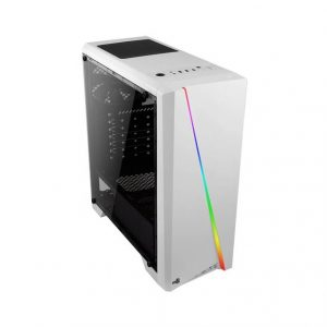 AeroCool PGS V Series No Power Supply ATX Mid Tower w/ Window (White)