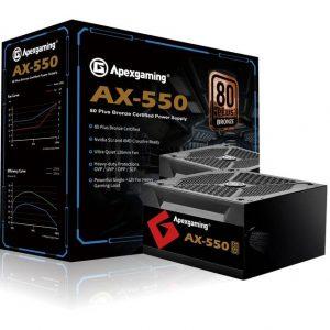 Apexgaming AX-550 550W 80 Plus Bronze Power Supply