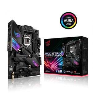 Asus ROG STRIX Z490-E GAMING LGA1200/ Intel Z490/ DDR4/ 3-Way CrossFireX & 2-Way SLI/ SATA3&USB3.2/ M.2/ WiFi/ Bluetooth/ ATX Motherboard