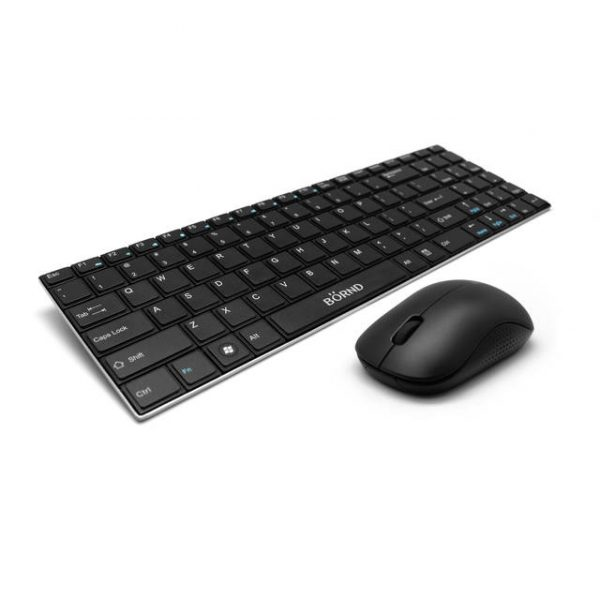 Bornd E550 Wireless Metal Keyboard & Mouse Combo (Black)