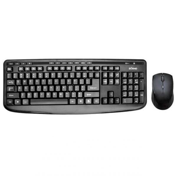 Bornd M610 BLACK Wireless Keyboard & Mouse Combo (Black)