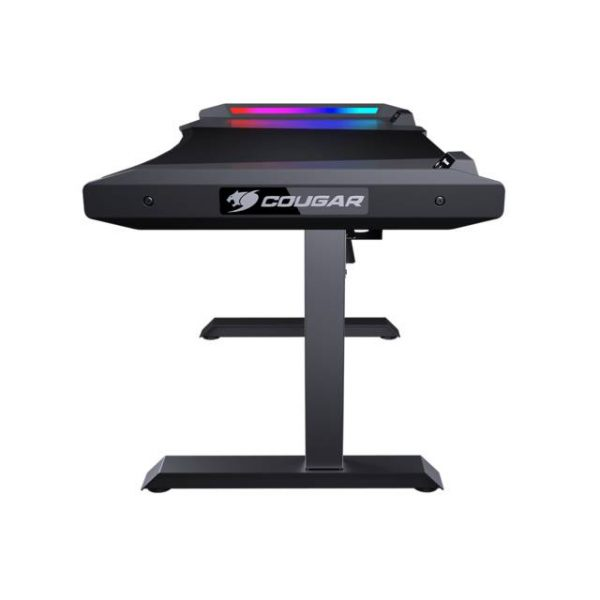 COUGAR NY7D0001-00 MARS gaming desk provides ergonomic design and generous gaming space with dazzling RGB lighting effects for enhancing your superior gaming experiences.