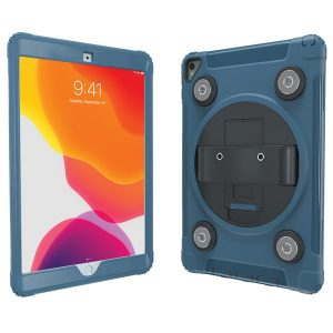 CTA Digital PAD-MSPC10B Magnetic Splashproof Case with Metal Mounting Plates for iPad (Blue)
