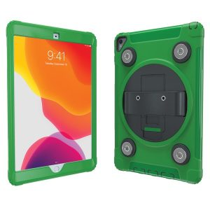 CTA Digital PAD-MSPC10G Magnetic Splashproof Case with Metal Mounting Plates for iPad (Green)