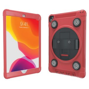 CTA Digital PAD-MSPC10R Magnetic Splashproof Case with Metal Mounting Plates for iPad (Red)