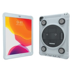 CTA Digital PAD-MSPC10W Magnetic Splashproof Case with Metal Mounting Plates for iPad (White)