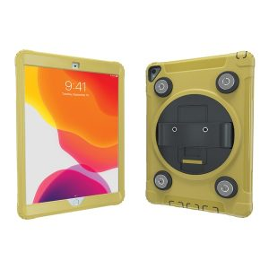CTA Digital PAD-MSPC10Y Magnetic Splashproof Case with Metal Mounting Plates for iPad (Yellow)