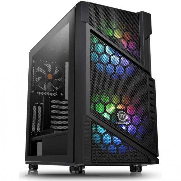 Commander C31 TG ARGB/Black/Win/SPCC/Tempered Glass*1/200mm Addressable RGB Fans*2 + 120mm Standard Fan*1/MB Sync