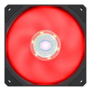 Cooler Master SickleFlow 120 V2 Red Led Square Frame Fan with Air Balance Curve Blade Design