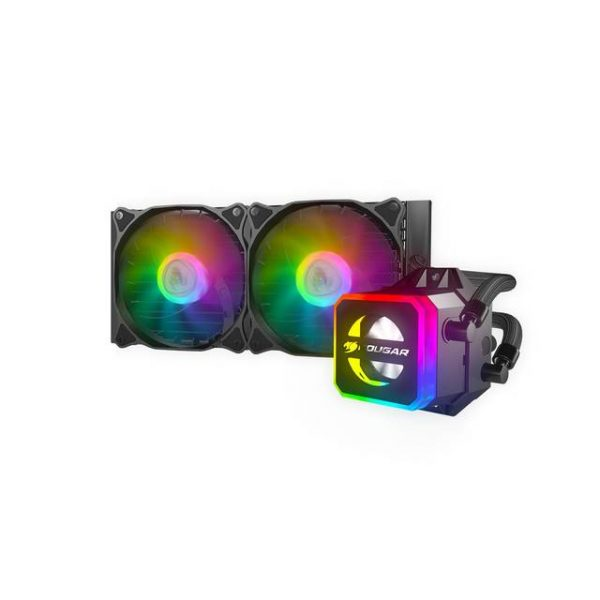 Cougar Helor 240 RGB CPU Aluminum Cooling Kit w/ 2 fans 240mm