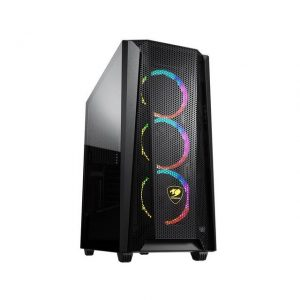 Cougar MX660 Mesh RGB Mid-Tower Case with Mesh Front Panel and Clear Tempered Glass Left Panel
