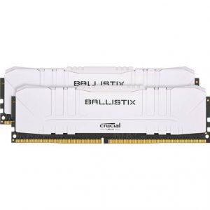 Crucial Ballistix DDR4-3600 16GB(2x8GB)/ 1G x 64 CL16 Desktop Gaming Memory Kit (White)