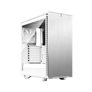 Fractal Design Define 7 FD-C-DEF7C-04 Compact White Brushed Aluminum/Steel ATX Compact Silent Tempered Glass Window Mid Tower Computer Case