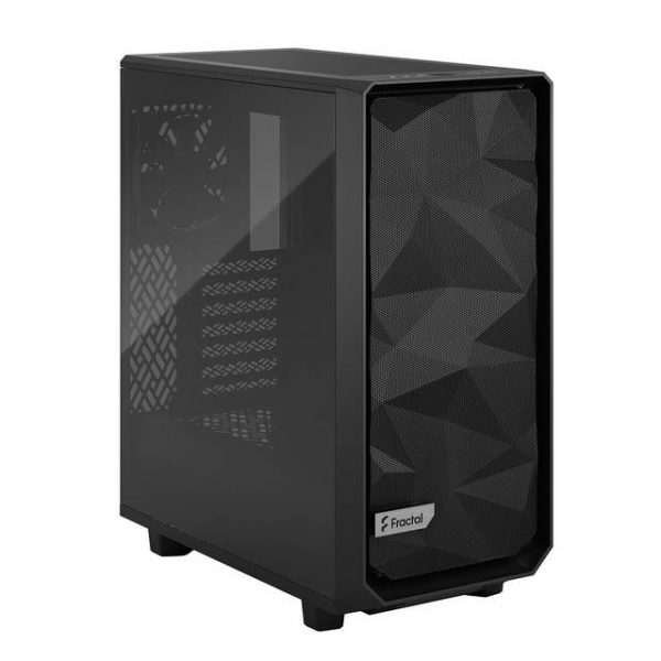 Fractal Design FD-C-MES2C-03 Meshify 2 Compact Black Light Tempered Glass Tint ATX Mid Tower Computer Case (Black)