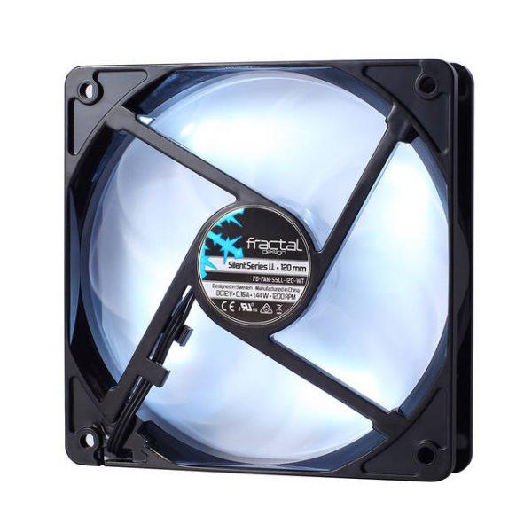 Fractal Design Silent Series LL White 120mm FD-FAN-SSLL-120-WT 120mm Case Fan