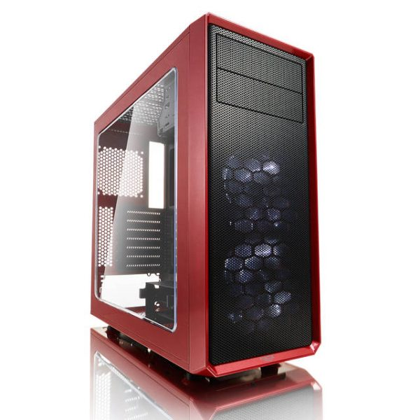Fractal Focus G No Power Supply ATX Mid Tower w/ Window (Mystic Red)