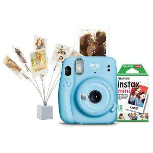 Fujifilm 600021729 instax mini Camera Bundle (Sky Blue)