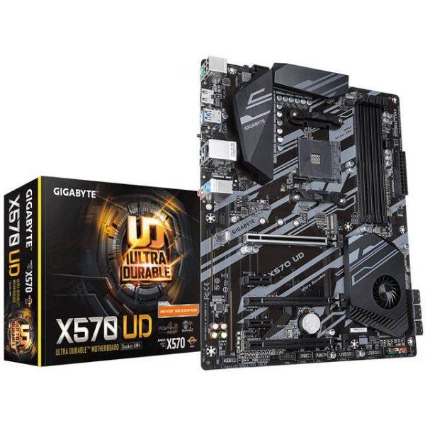 GIGABYTE X570 UD Socket AM4/ AMD X570/ DDR4/ QUAD CROSSFIRE / PCIE 4.0/ SATA3&USB3.2/ M.2/ A&GbE/ ATX Motherboard
