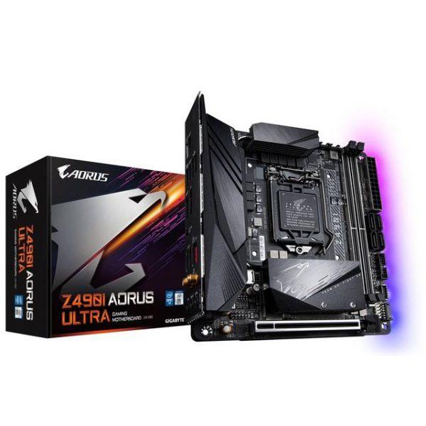 GIGABYTE Z490 I AORUS ULTRA Socket LGA1200/ Intel Z490/ DDR4/ SATA3&USB3.2/ M.2/ WiFi/ Mini-ITX Motherboard