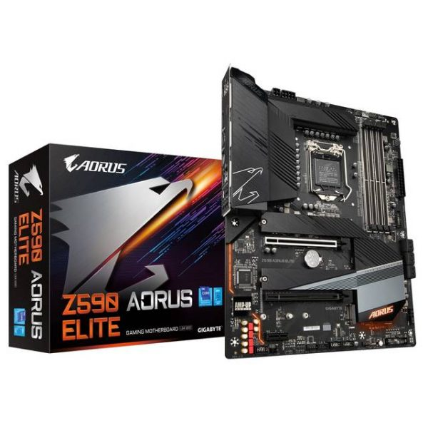 GIGABYTE Z590 AORUS ELITE LGA1200/ Intel Z590/ DDR4/ Quad-GPU & 2-Way CrossFire/ SATA3&USB3.2/ M.2/ ATX Motherboard
