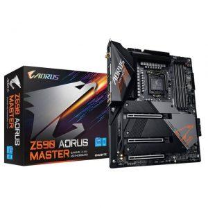 GIGABYTE Z590 AORUS MASTER LGA1200/ Intel Z590/ DDR4/ Quad-GPU & 2-Way CrossFire/ SATA3&USB3.2/ M.2/ ATX Motherboard