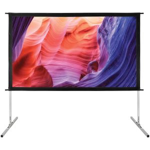 GPX PJS909 Indoor/Outdoor Projection Screen (90 Inch)