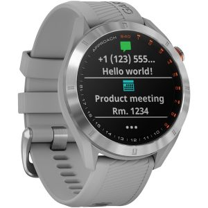 Garmin 010-02140-00 Approach S40 GPS Golf Smartwatch (Stainless Steel with Powder Gray Band)