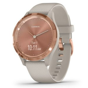Garmin 010-02238-02 vivomove 3S Hybrid Smartwatch (Light Sand with Rose Gold Hardware)