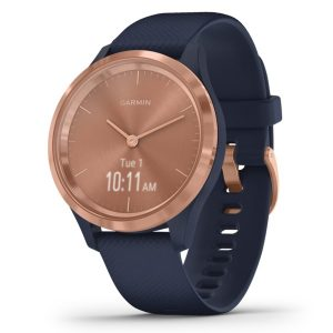 Garmin 010-02238-03 vivomove 3S Hybrid Smartwatch (Rose Gold Stainless Steel Bezel with Navy Case and Silicone Band)