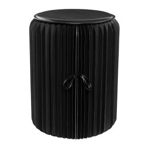 Honey-Can-Do TBL-08797 Black Foldable Paper Stool
