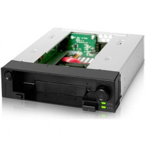ICY DOCK DuoSwap MB971SP-B 5.25 inch Hot Swap Drive Caddy for 2.5 inch & 3.5 inch SATA Hard Drive or SSD (Black)