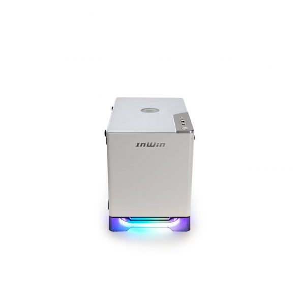 In-Win A1 PLUS WHITE Mini-ITX Tower with Integrated ARGB Lighting - 650W Gold Power Supply