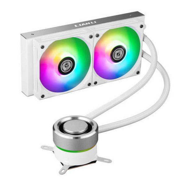 Lian Li GALAHAD AIO240 RGB White- Dual 120mm Addressable RGB FANS AIO CPU Liquid Cooler - GA240A