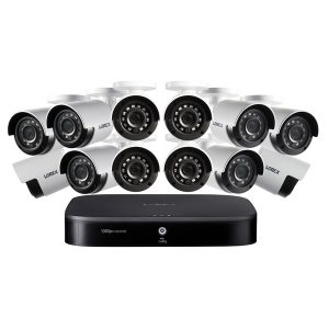 Lorex DF162-C2NAE 1080p HD 16-Channel DVR Security System with 2 TB DVR and Twelve 1080p Night Vision Bullet Security Cameras with Smart Home Control