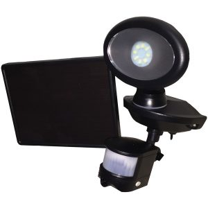 MAXSA Innovations 44643-CAM-BK Solar-Powered Security Video Camera & Spotlight
