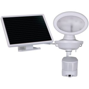 MAXSA Innovations 44643-CAM-WH Solar-Powered Security HD Video Camera and Spotlight