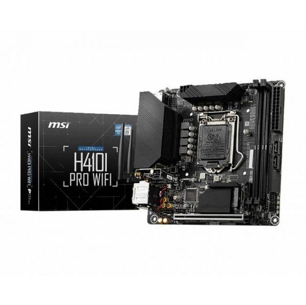 MSI H410I PRO WIFI LGA1200/ Intel H410/ DDR4/ SATA3&USB3.2/ WiFi & Bluetooth/ M.2/ Mini-ITX Motherboard