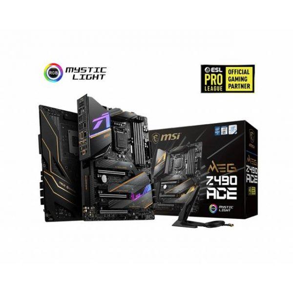 MSI MEG Z490 ACE LGA1200/ Intel Z490/ DDR4/ SATA3&USB3.2/ 3-Way CrossFire & 2-Way SLI/ M.2/ WiFi&Bluetooth/ ATX Motherboard