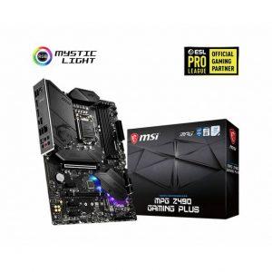 MSI MPG Z490 GAMING PLUS LGA1200/ Intel Z490/ DDR4/ 2-Way CrossFire/ SATA3&USB3.2/ M.2/ ATX Motherboard