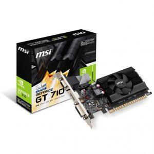 MSI NVIDIA GeForce GT 710 2GB DDR3 VGA/DVI/HDMI Low Profile PCI-Express Video Card